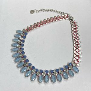 Luxury statement rhinestone bib necklaces collar